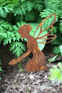 Bilde av Hagealv silhuett med spade, stick, rust - 16 cm
