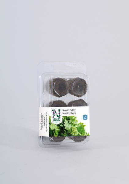 Hydroponisk, plugg med frø, koriander