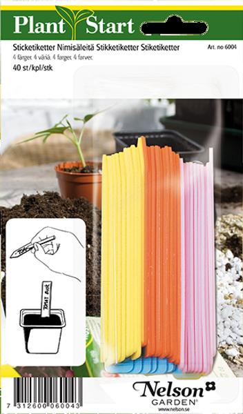 Etiketter 40 stk - fire farger