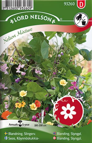 Frøblanding, slyngplanter 'Nelson Mixture'